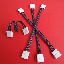 RGB LED Verbindungsclip Leiste Strip Schnellverbinder Stripe Verlängerungs Kabel