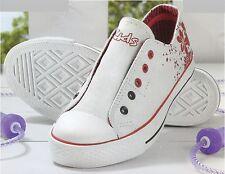 Niñas – Zapatillas Deportivas de Deporte Entrenamiento Blanco - Rojo B –