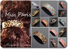 Haarspange XL Spange Paris Leopard  Rockabilly Haarschmuck 10 cm 24 Modelle
