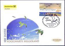 BRD 2010: Helgoland! Post-FDC der selbstklebenden Nr 2793 mit Bonner Stempel!