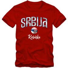 Herren T-Shirt Srbija Serbien Serbia Basketball Football WM EM 02