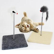 Cat Kitty Sway Toy Teaser Kitten Spiral Play Ball Pet Pole Activity Post Scratch