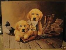 Tin Sign-LR Kaatz-2 Blond Pups-Duck & Hunting Supplies
