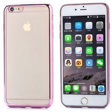 iPHONE 6 6S PLUS PREMIUM ULTRA SLIM PINK TRANSPARENT SILICONE GEL TPU CASE COVER