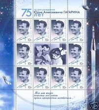 Russia 2009 Yury Gagarin 75th Anniv Sheetlet 10 stamps0