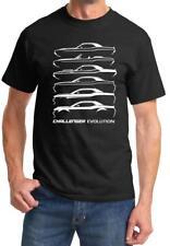 1970-2018 Dodge Challenger Evolution Outline Design Tshirt NEW FREE SHIPPING