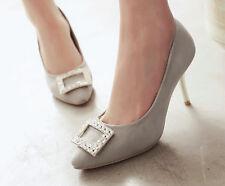 Décollte Scarpe decolte eleganti donna tacco spillo stiletto 8.5 cm grigio 9182