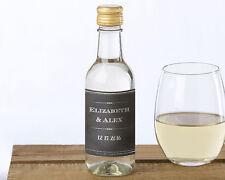 120 Personalized MINI Wine Bottle Labels Bridal Shower Wedding Favors