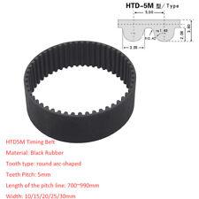 HTD700~990/Pitch 5mm Black Rubber Gear Timing Belt Transmission Drive Belts