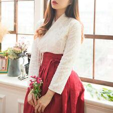 [Korea Costume Life Hanbok] Life Hanbok Top Blouse Lace White Free Shipping
