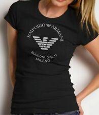 EMPORIO ARMANI Borgonuovo,11 Womens Black T-shirt,Slim fit Size S, M