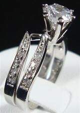 Elegant 1.20ctw 2pcs CZ Cubic Zirconia Bridal Engagement  Wedding Ring set size6