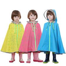 Enfants Portable Poncho Cloak Raincoat Hooded Imperméable Lightweight Rain Wear