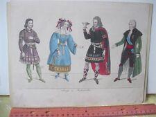 Vintage Print,GERMAN,#2,Anzuge zu Maskenbalken,19th Century