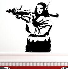 """BANKSY Graffiti """"Mona Lisa Bazooka"""" Arte De Vinilo De pared calcomanía de pegatinas! Gratis Envío! Nuevo"""