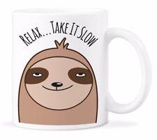 Sloth Coffee Mug Funny Sloths Relax Coffee Mugs Cute Take It Slow Cup Gift