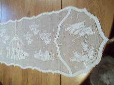 HERITAGE LACE WHITE CHRISTMAS NATIVITY SCENE RUNNER 14.5 X 53 CUTE ITEM 2806
