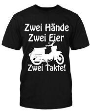 Hände Eier Schwalbe T-Shirt Fun Shirt Moped Kult DDR Herrentag Sprüche Bike Old