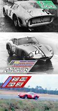 Calcas Ferrari 250 GTO TEST Le Mans 1962 1964 1966 1:32 1:24 1:43 1:18 decals