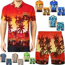 Pantalón corto para hombre Camisa Hawaiana Palm Beach isla vacaciones tropicales Top nadar tronco