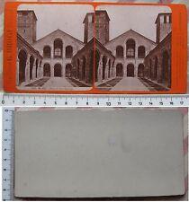 Stereofoto Milano Chiesa di S. Ambrogio - editore G. Brogi fine '800