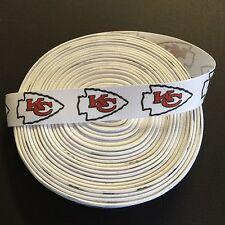 "7/8"" Kansas City Chiefs Grosgrain Ribbon by the Yard (USA SELLER!)"