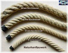 Hanfseil 50mm stark, Balancierseil, Klettertau, Balanciertau, Naturhanf Tau