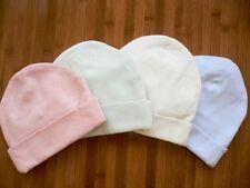 100% Organic Cotton Baby Hat Cap...set of 2...Pink/Green/Beige/Blue