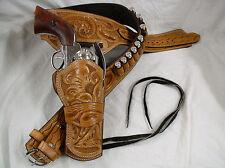357 Ruger Colt Uberti Western Fast Draw Sixgun Pistol Leather Gun Holster Belt