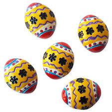 5pcs Easter Eggs Resin Flatback Cabochons Embellishment Decoden Kids Craft