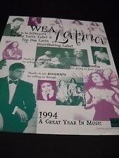 LAURA PAUSINI Luis Miguel OLGA TANON Cafe Tacuba others 1994 PROMO DISPLAY AD