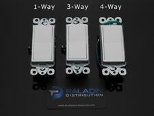15A Decorator Wall Rocker Switch Single Pole / 3-Way / 4-Way - UL Listed White