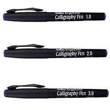 Artline Ergoline Calligraphy Marker Pen - Blue - Lines Width 1.0 - 2.0 - 3.0 mm