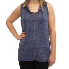 Active Life Sleeveless Hooded Vest NAVY HEATHER Women's Sz M- XXL NWT$78