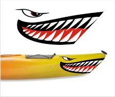 SHARK TEETH MOUTH DECAL STICKERS KAYAK CANOE JET SKI HOBIE DAGGER OCEAN boat 6