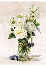 White Roses by Paul de Longpre (Art Print of Vintage Art)