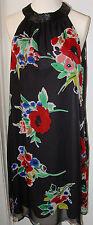For Love & Liberty- Winter Bouquet Silk Beaded Floral A-line Dress Sleeveless