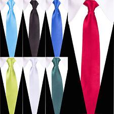 """Ancho 3"""" Vestido Elegante Pre Atado Corbata De Clip-Rojo Azul Verde Rosa Blanco Amarillo"""