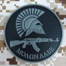 Molon Labe Kalashnikov Sparta Morale Military Tactics 3D PVC Patch Badges