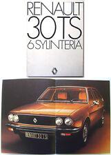 Renault 30 TS 1975-6 Original Finnish Prestige Brochure