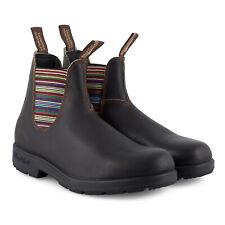 Blundstone Herren Stiefel Modell 1409 Striped Elastic V-Cut Boots Dark Brown