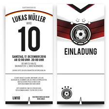 Einladungskarten Zum Kinder Geburtstag   Deutschland Fußball Trikot  Einladung