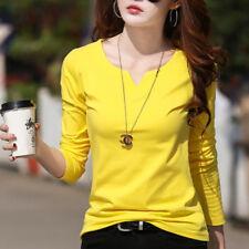 maglia donna maniche lunghe morbida giallo girocollo scollo  4604