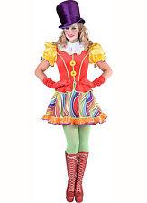 Ladies Rainbow Clown Costume   - Sizes 6-22