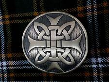 New Celtic Kilt Belt Buckle Cross Round Burshed Antique/Highland Belt Buckles