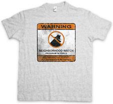 Neighborhood Watch Sign T-shirt cattivi simbolo logo vigilantismus vigilante