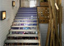 3D New York Night 1 Stair Risers Decoration Photo Mural Vinyl Decal Wallpaper AU