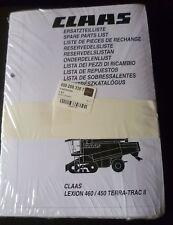 Claas Lexion 450 + 460 Terra Trac II Ersatzteilliste