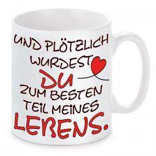 Kaffeetasse mit Motiv = Der beste Teil meines Lebens = Set Tasse mit Kissen