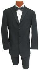 Men's Black Chaps Tuxedo Jacket Cheap Sale Clearance Tux Prom Halloween Costume